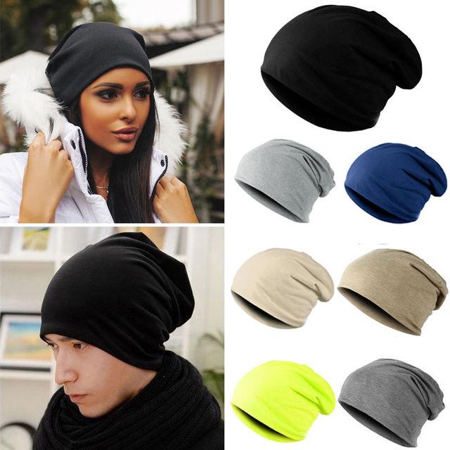 6e24cf3686ac6e Fashion Style Unisex Men Knitted Winter Warm Ski Crochet Slouch Hats For Women  Cap Cotton Skullies
