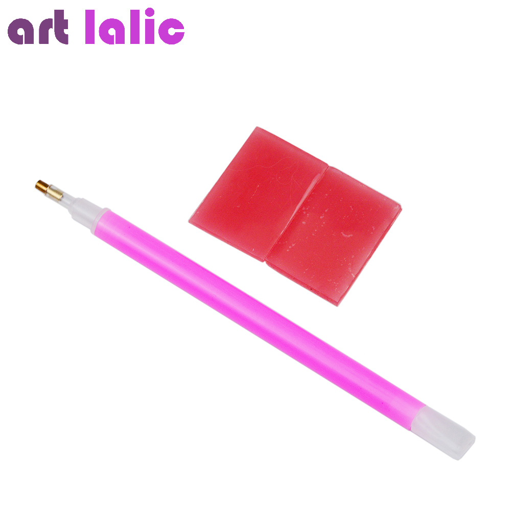 Artlalic 3pcs/set Nail Art Rhinestones Pickers Crystal Diamond Picker Pencil Point Nail Pen Drilling Dotting Tools Gel Kit artlalic 1 wheel new 3d nail decorations tools charm perfume bottle flowers triangle rhinestones diy nail art jewelry promotion
