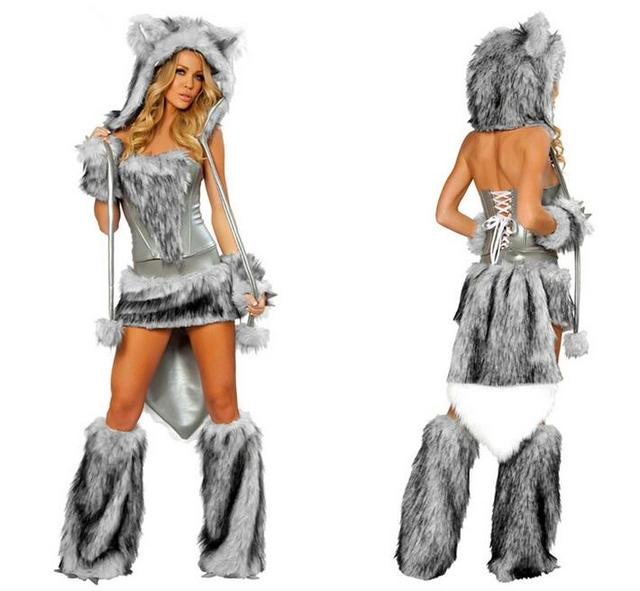 Vocole Halloween Women Sexy Furry Wolf Costume Faux Fur Big Bad Wolf Outfit Animal Cosplay Fancy  sc 1 st  AliExpress.com & Vocole Halloween Women Sexy Furry Wolf Costume Faux Fur Big Bad Wolf ...