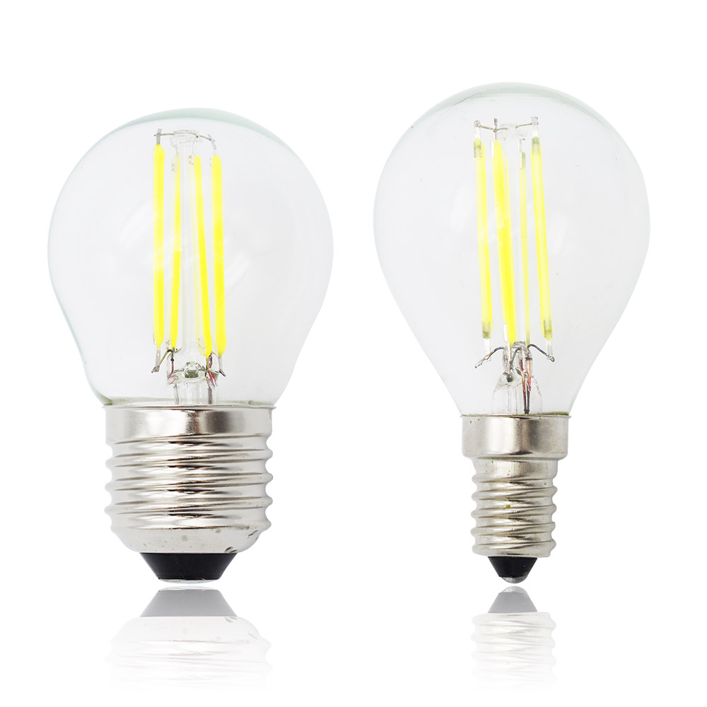 1pcs retro g45 edison e27 glass lamp e14 led filament dimmable 220v candle bulb replace 20w 40w. Black Bedroom Furniture Sets. Home Design Ideas