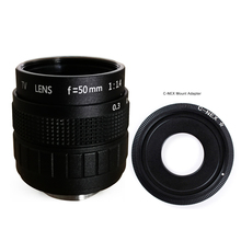 купить 50mm F1.4 CCTV TV Movie lens+C-NEX Mount for SONY E Mount NEX3 NEX6 NEX7 A6500 A6300 A6000 A5000 по цене 1301.97 рублей