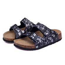 Women Shoes Sandals Slippers Summer Lady Flats Sandals Cork Slippers Casual Shoes Mixed Colors Beach Slides Plus Size 35-41