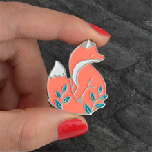 Popular cartoon fox brooch harajuku badge and lovely brooch animated cartoon chest pin buckle accessories brooches for women