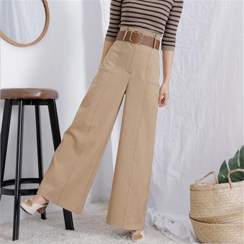 MLCRIYG Die neue hohe taille skinny jeans freizeithosen lose retro breite beinhosen