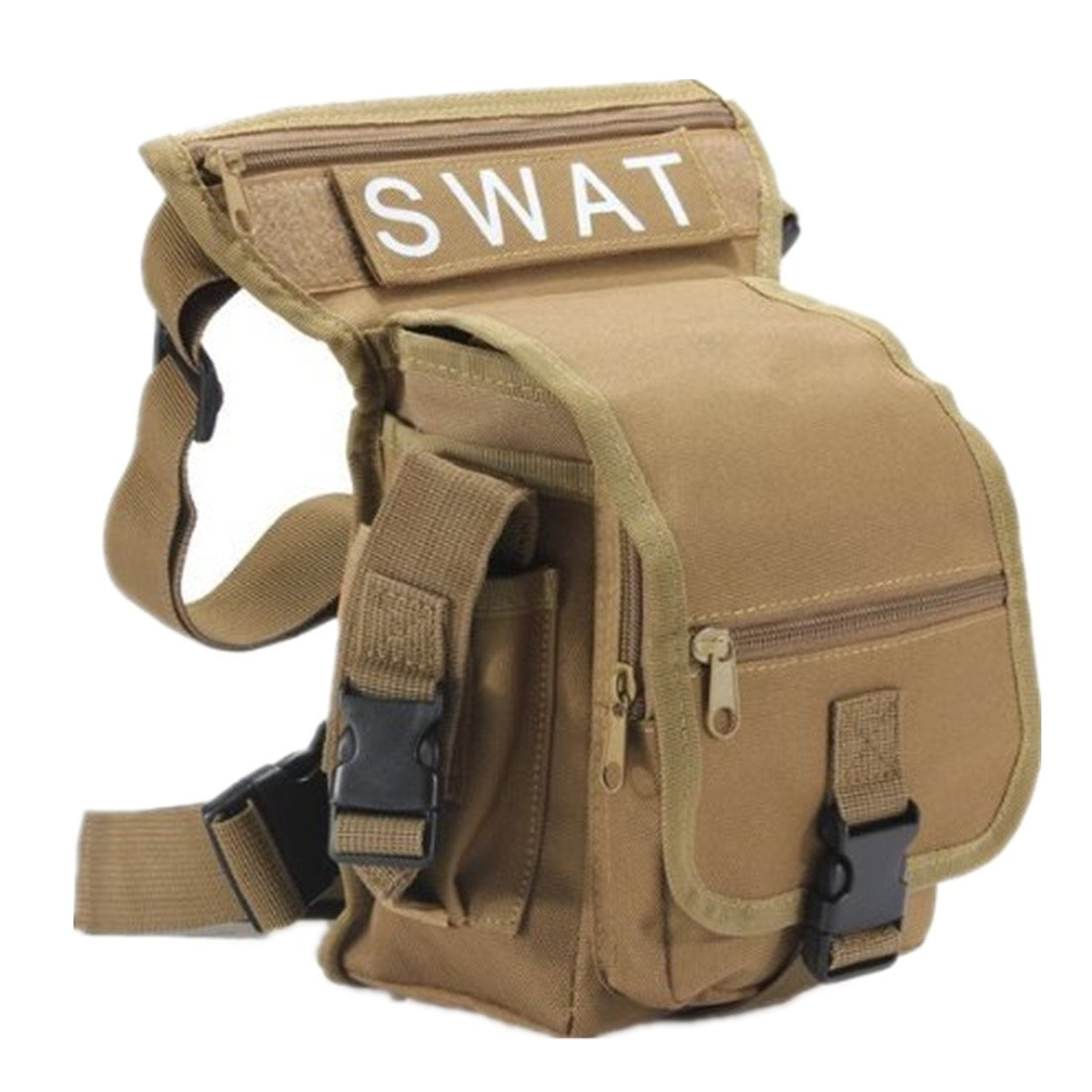 Prix pour Multifonction ceinture pack porte cuisse jambe poche taille vélo camping sac Randonnée Sport de montagne chasse airsoft bataille (kaki)