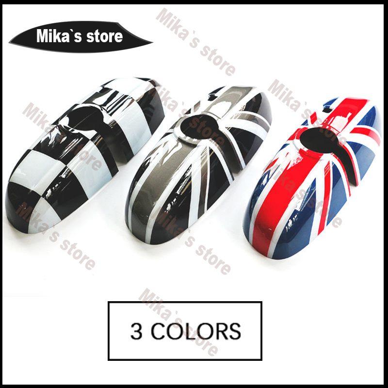New car styling~For MINI Cooper F55 F56 F54 Rearview Mirror Cover Shell High Configuration Antiglare Lens Union Jack Style revell mini cooper