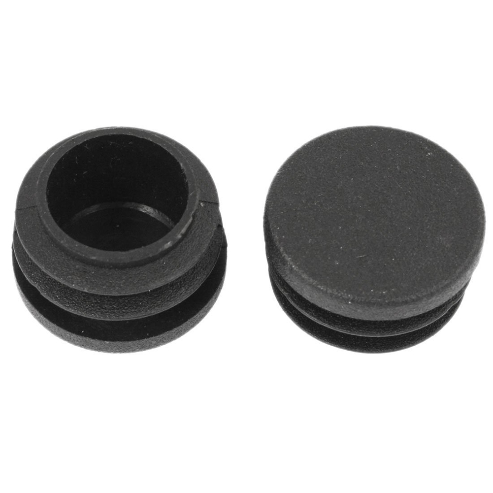 Chair Table Legs 28mm Dia Cap Round Ribbed Tube Pipe Insert 2 Pcs rubber round table foot cover protector 8mm inner dia 24 pcs