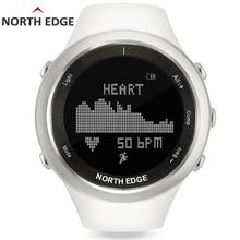 NORTH EDGE Women Sport Watch Altimeter Barometer Thermometer Compass Heart Rate Monitor Pedometer Digital Running Climbing Watch
