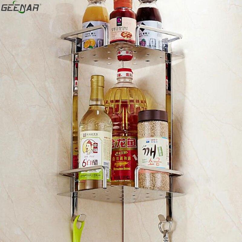 Bathroom, kitchen shelves, 304 stainless steel bathroom, shelf, wall ...