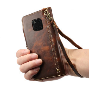 Image 5 - Gerçek deri Huawei Mate 20 Pro Mate20 Funda Huawei Mate 20 Pro kılıf kapak cüzdan Retro Etui Huawei mate 20 Case LYA L29