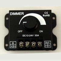 10pcs Lot DC 12V 24V 30A Balck LED Dimmer Switch Brightness Controller For Single Color 5050