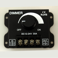 10pcs Lot DC 12V 24V 30A Balck LED Dimmer Switch Brightness Controller For Single Color 5050