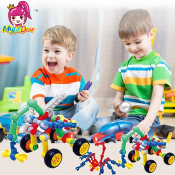 Mini City Build Model Building Blocks Toys Car Engineer Soldier Truck Educational Toys for Children Kindergarten