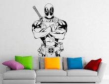 Deadpool Vinyl Sticker For Living Room Decoration Comics Antihero Wall Decal Comic Book Character Home Interior Decor A402