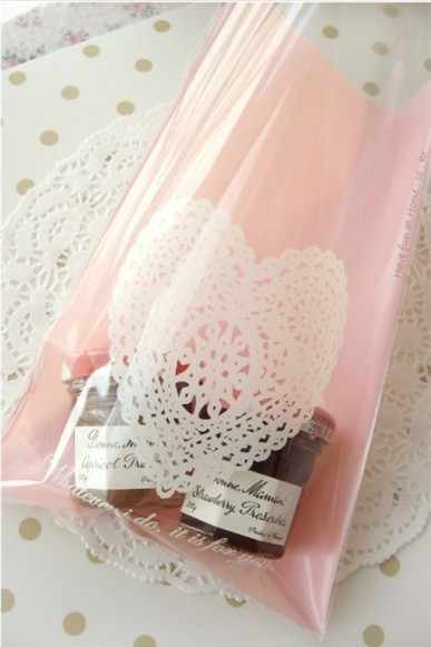 100pcs/lot Plastic bags,Pink hearts cookie packaging bags,13x19cm cake bag,cupcake wrapper free shipping