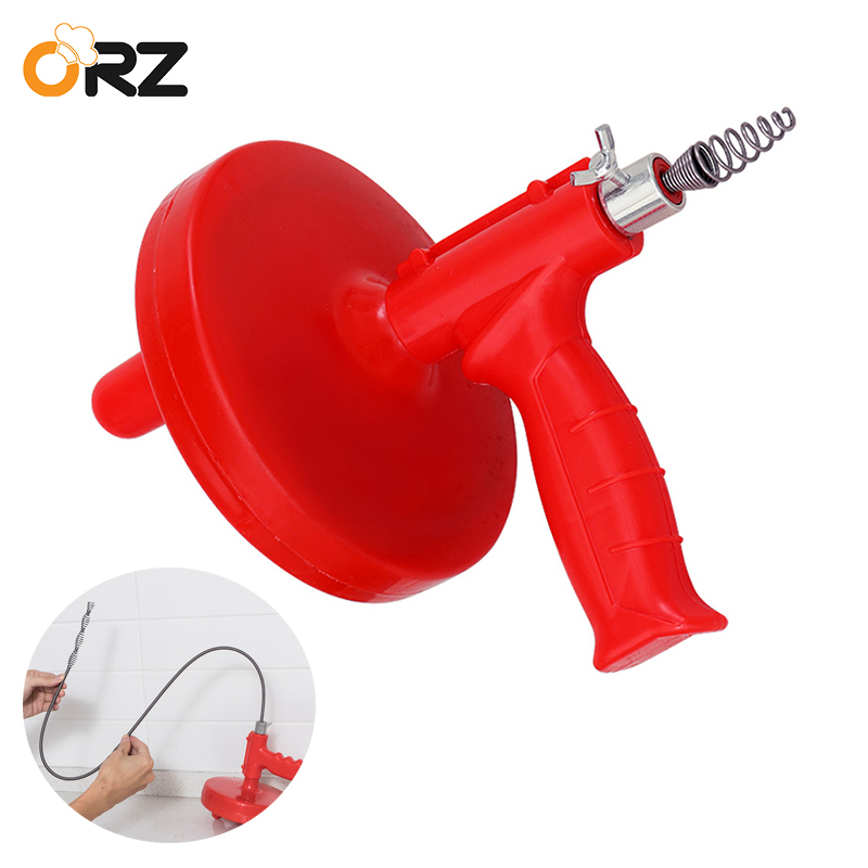 5M Drain Cleaner Cable Snake Plumbing Sink BathroomBathtub Toilet Dredge Pipes Sewer Filter Cleaning Clog