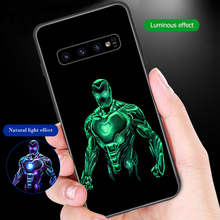 ciciber For Samsung Galaxy S10e S10 S9 S8 Plus S10+ S9+ S8+ Tempered Glass Phone Cases for Note 9 8 Cover Marvel Thor