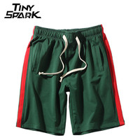 Side Striped Shorts Mens Sweatpant 2018 Men Summer Jogger Short Streetwear Hip Hop Shorts Casual Knee