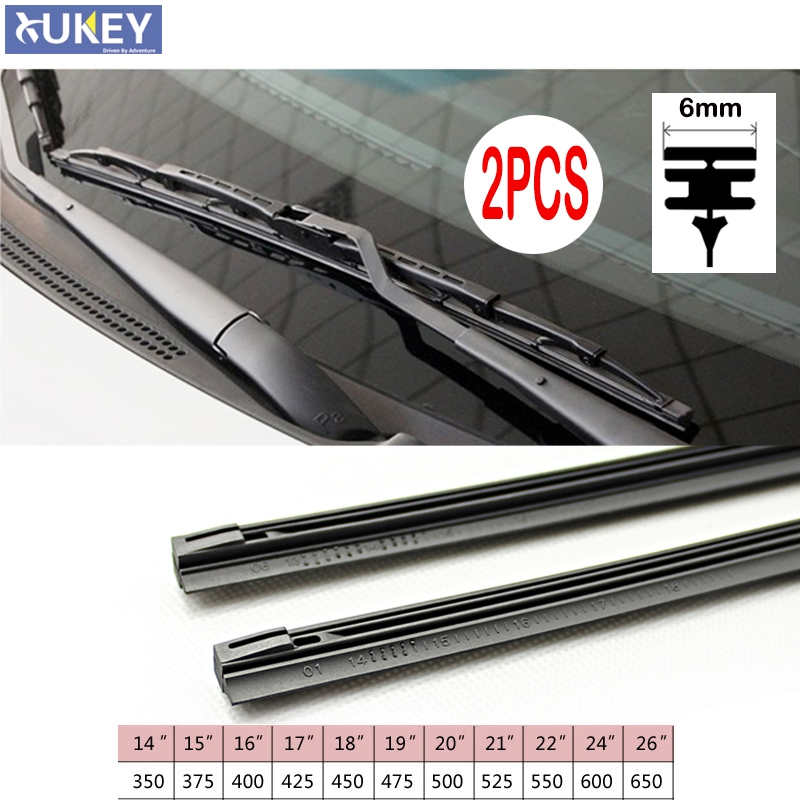 Insert Rubber strip Windshield Wiper Blade Refill Universal Replacement Refill Soft 6mm 8mm 14