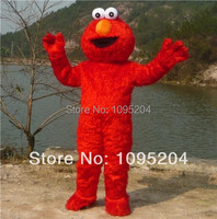 High quality adult size mascot costume red hairy elmo kids birthday party and lead elmo mascot costume free shipping