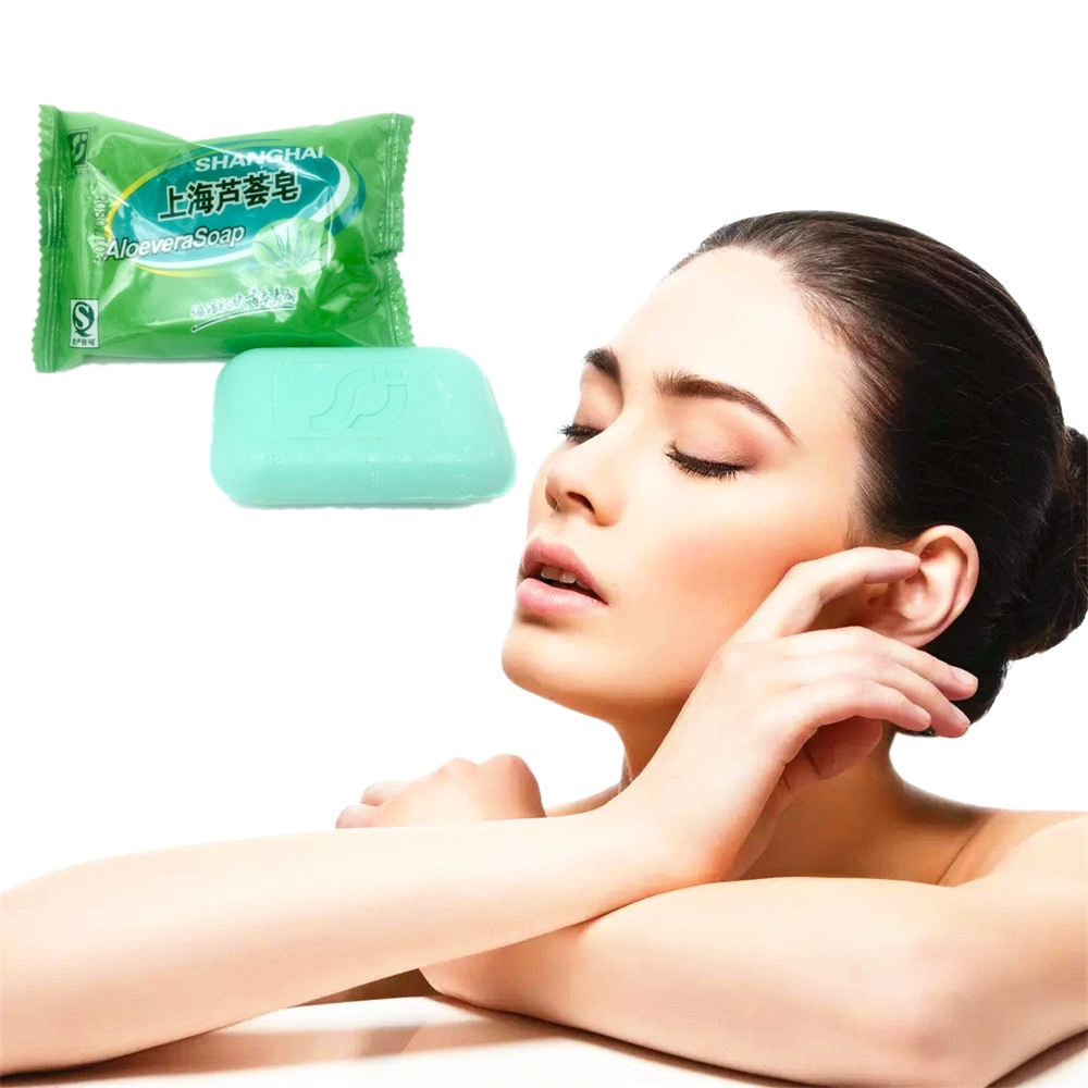 Pure ALOEVERA Soap Acne Spots Treatment Stretch Marks Remove Acne Face Soap Acne Scar Removal 85g