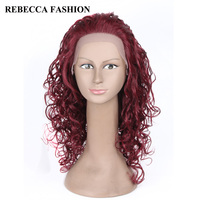 Rebecca Remy Long Curly Lace Front Human Hair Wigs For Black Women Fashion Curly Hair Winde