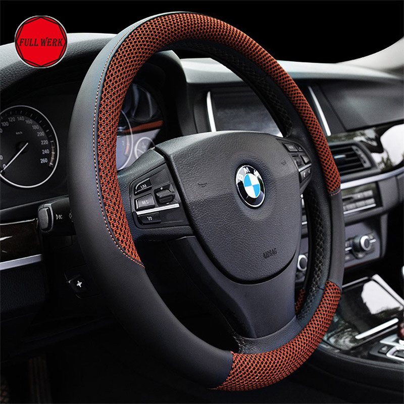 1 pc anti slip steering cover fit 38cm 15 inch steering wheel1 pc anti slip steering cover fit 38cm 15 inch steering wheel comfortable cool wrap protector decoration for summer in steering covers from automobiles