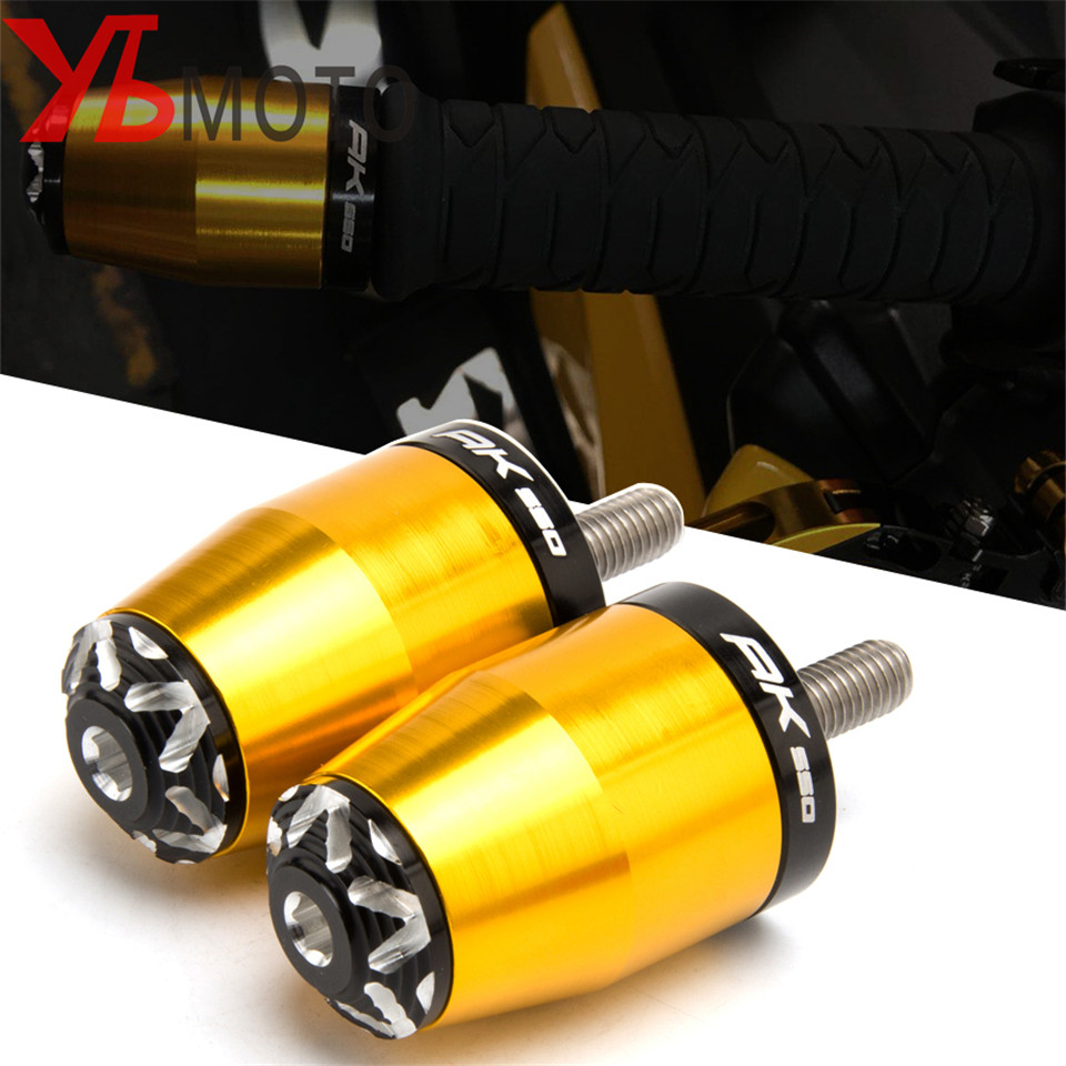 For KYMCO AK 550 2018 Accessories Motorcycle Cnc Handlebar Grips Handle Bar Ends plug gold Anti Vibration For KYMCO AK550 2017(China)