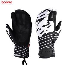 Boodun Winter Men Women Ski Gloves Touch Screen Outdoor Sports Skiing Windproof Waterproof Warm Snow Motorcycle