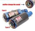 Yoshimura titanium fibra de carbono moto gp-força silencieux silenciador tubo de escape da bicicleta da sujeira moto escape silenciador z250 r25