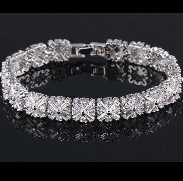 a88fe64fb7e fashion radiation shaped flower CZ stone bangles bracelets AAA Cubic  Zirconia women bracelet wedding/bridal bracelet