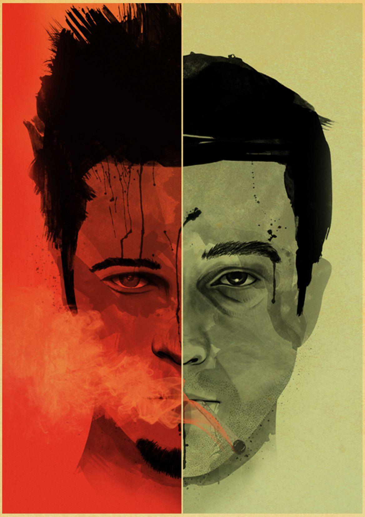 HTB1Fdr5MsfpK1RjSZFOq6y6nFXaZ Vintage Poster classic movie Pulp Fiction / Kill Bill/Fight Club poster Retro kraft paper posters decorative art painting