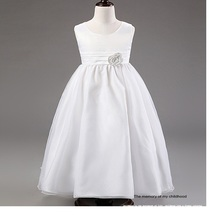 High quality bridal flower girl dress  girl princess  dress wedding and party flower chiffon princess dress
