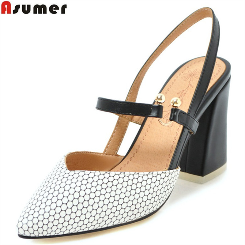 ASUMER 2018 fashion spring autumn new pump shoes women pointed toe elegant wedding shoes high heels shoes plus size 33-46 asumer 2018 fashion apring autumn new