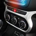 FIT FOR 2015 16 JEEP RENEGADE CHROME CENTER CONSOLE AC SWITCH BUTTON COVER BEZEL TRIM KNOB DASHBOARD PANEL FRAME STYLING GRANISH