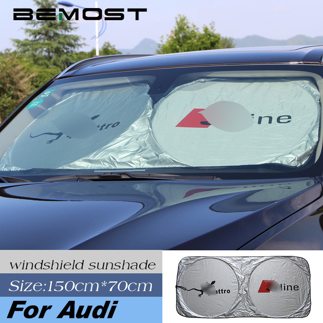 BEMOST Auto Accessorie Car Windscreen Sunshade Front Window Sun Shade  Windshield Visor Cover For Audi A4 A6 A3 A5 A8 Q3 Q5 Q7 96ee80aa1d4