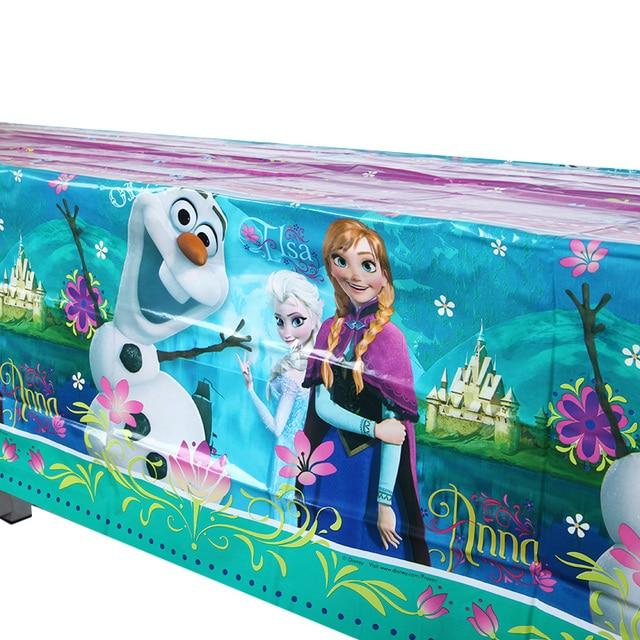 Anna e Elsa Principessa Di Compleanno Decorazioni Festa per bambini Stoviglie Usa E Getta Decorazioni Festa di Compleanno Forniture 5