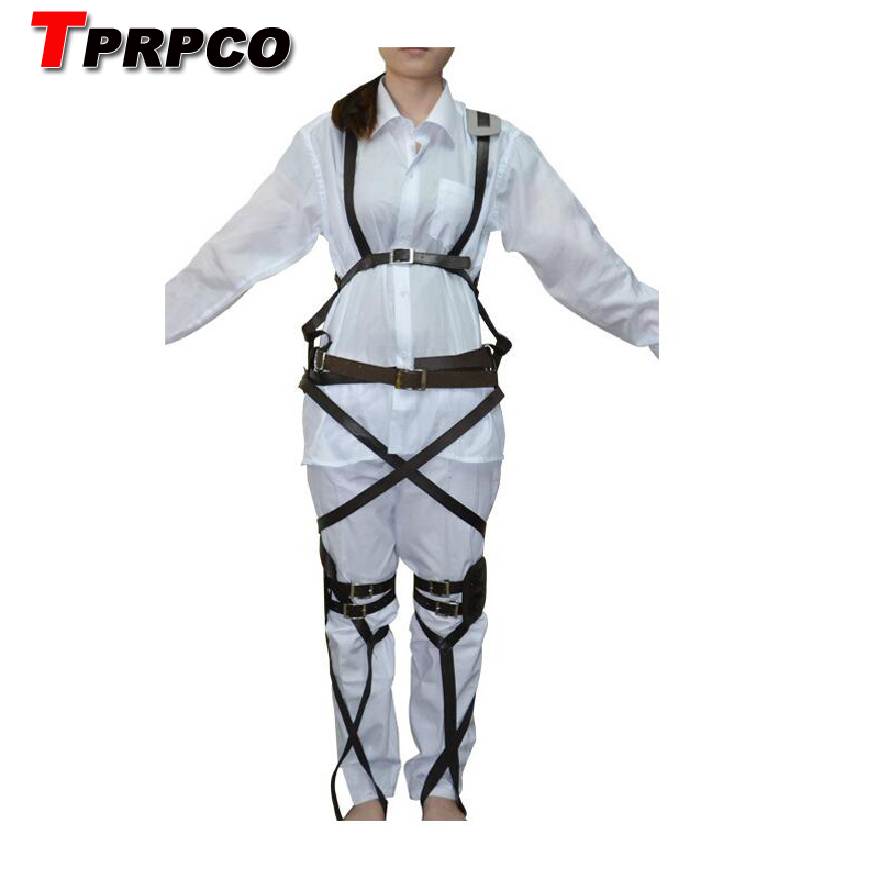 TPRPCO Attack on Titan Shingeki no Kyojin Recon Corps Harness belt hookshot Costume Adjustable Belts cosplay belts free shipping