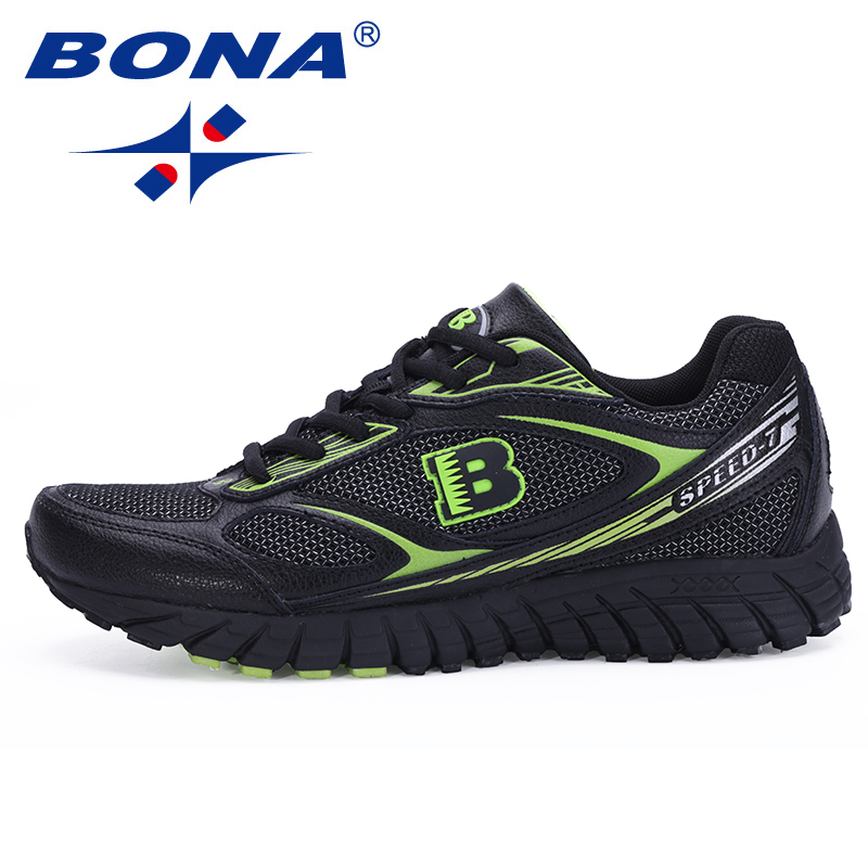 BONA New Hot Style Men Running Shoes Outdoor Walking Jogging Sneakers Lace Up Athletic Shoes Comfortable Sport Free Shipping