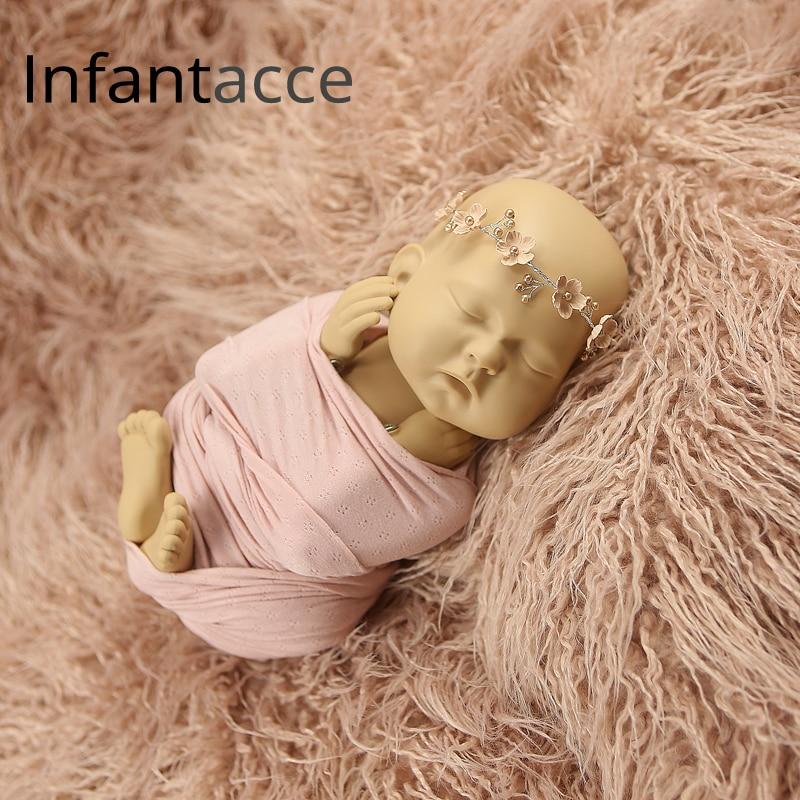 pasgeboren namaakbont deken fotografie rekwisieten voor fotoshoot - Beddegoed - Foto 3