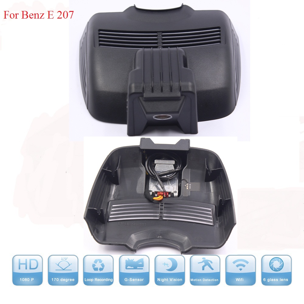 WIFI Cameras For Benz E 207 DVR Dash Cam Night Vision Dash Camcorder WDR Hidden Install With Aluminium Alloy Free Shipping