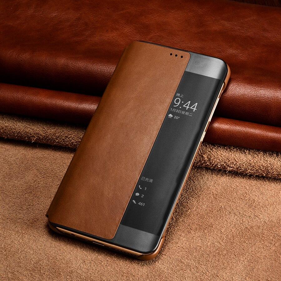 Цена за Для huawei p10 case оригинальный xoomz роскошный натуральная кожа case для huawei p10 плюс телефон случаях смарт откидная крышка бумажник Coque