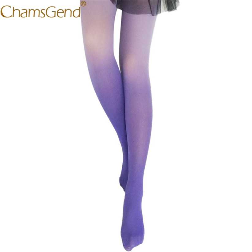 7df1c2bf8e3 Newly Design Women Sexy Tights Gradient Color Skinny Over Knee High Woman  Stockings Pantyhose 80911