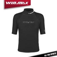 WIN.MAX Short Sleeves Swimwear Surf Clothing Diving Suits Shirt Swim Suit Spearfishing Wetsuit Kitesurf Rash guard Tee for Men