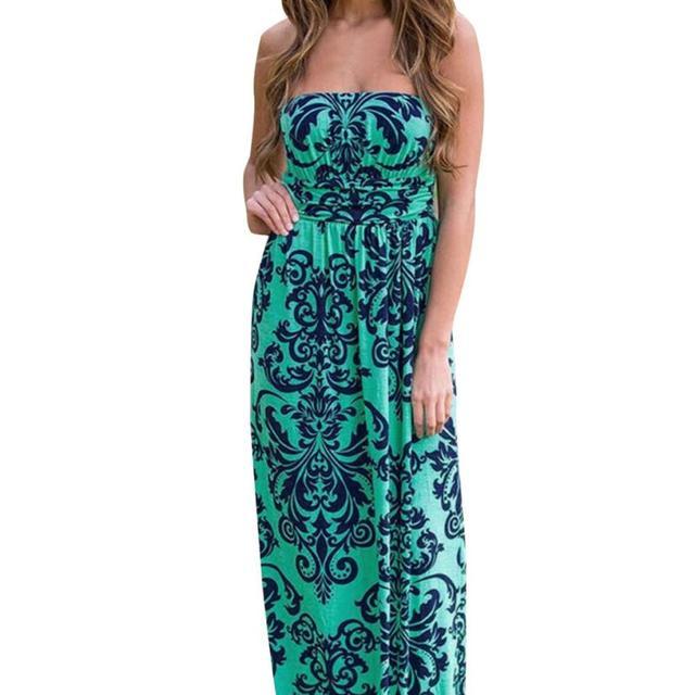 Long Beach Strapless Dress