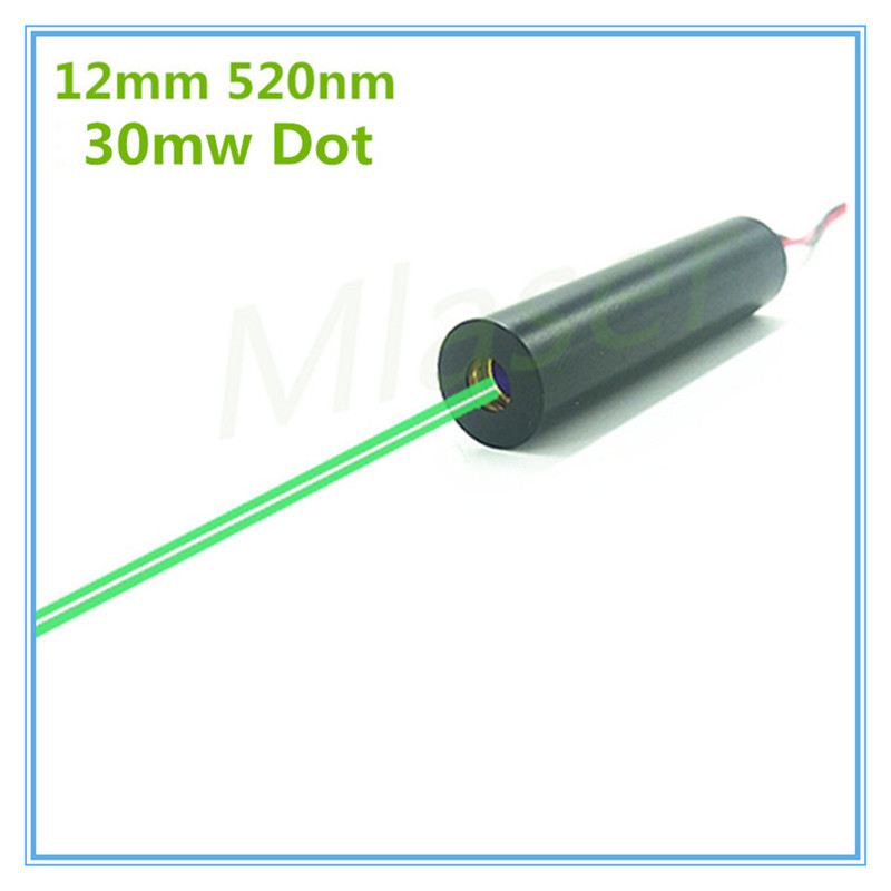 12mm Low operating temperature 30mW 520nm Green Dot Laser Diode Module Industrial Grade APC Driver TYLASERS
