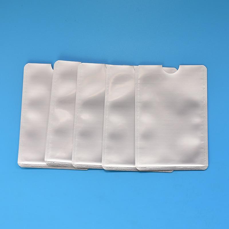 FGHGF 100pcs Silver Card Sleeve Anti Scan RFID Sleeve Protector Credit ID Card Aluminum Foil Holder Anti-Scan