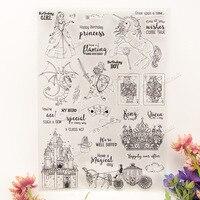 Peri masalı dünya Şeffaf şeffaf Silikon Damga/Mühür için DIY scrapbooking/fotoğraf albümü Dekoratif açık damga yaprak A265