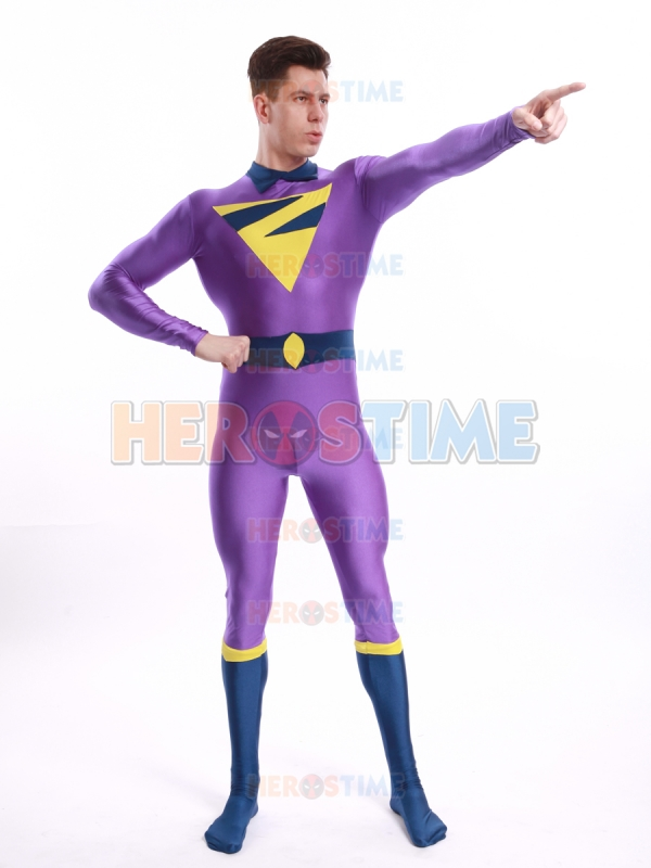 The Wonder Twins Zan Costume Purple Spandex Tight Zan Costume Male Comic Cosplay Costume Custom Made Available Refreshment Home