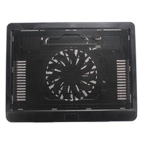 USB Slim Laptop Cooling Pad Backlight Computer Radiator Black White Notebook Cooler Stand With 140mm LED